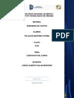 Ejercicios  Ingeniería de costos.docx