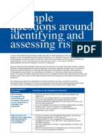 8 Example Questions Around Identifying and Assessing Risk