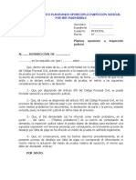 MODELO DE ESCRITO PLANTEANDO OPOSICIÓN A INSPECCIÓN JUDICIAL POR SER INADMISIBLE