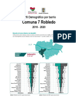 Perfil Demográfico Barrios 2016 – 2020 Comuna_07_Robledo