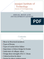 R.C.C.-shear, Bond and Development Length