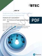 Btec Hn Engineering Pearson Set Guidance