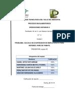 Cálculo de Evaporador de Simple Efeto Equipo 3-1