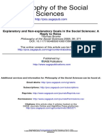 Explanatory and Non-explanatory Goals in the Social Sciences- A Reply to Reiss