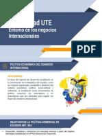 ENTORNO DE LOS NEGOCIOS INTERNACIONALES