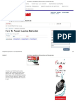 How to Repair Laptop Batterie