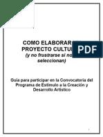 COMO ELABORAR UN PROYECTO CULTURAL .doc
