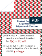 Lesson 3 Limits of Exponential, Logarithmic, And Trigonometric Functions