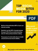Social Media Sites for 2020