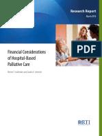 Financial hospital based palliative care