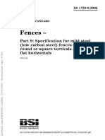 BS 1722-9;2006 Spec for Mild Steel Fences With Round or Square Verticals & Flat Horizontals