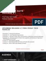 RSA Archer Suite Release 6.7 Overview