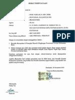 Surat Pernyataan Tidak Pindah Tugas