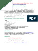 International Journal of VLSI design & Communication Systems( VLSICS )