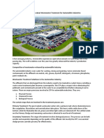 Things to Know About Wastewater Treatment for Automobile Industries