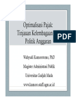 Optimalisasi Pajak Tinjauan Kelembagaan Dan Politik Anggaran