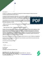 Letter of Confirmation - Due Dilligence Site Visit.docx