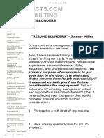 57 Resume Blunders