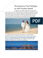 4 Amazing Honeymoon Tour Packages for Andaman and Nicobar Island