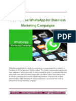 How to Use WhatsApp for Business Marketing Campaigns