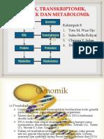 Genomik, Transkriptomik, Proteomik Dan Metabolomik