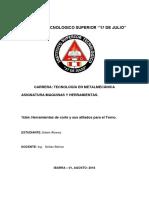 Edwin Alvarez Herramientas de corte y su afilado para el torno.pdf