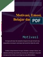 Motivasi, Emosi, Belajar Dan Minat