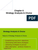 Lecture 6 Strategic Analysis and Choice