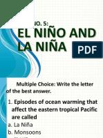 Quiz No. 5. El Nino and La Nina.pptx