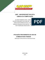 POLUIÇÃO PROVENIENTE DO USO DE COMBUSTIVEIS FÓSSEIS
