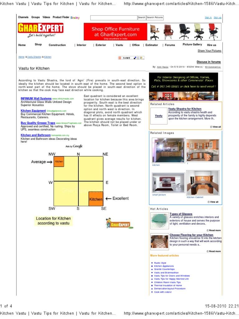 Vastu Kitchen Tips For Better Living.Vastu Tips For Home Design ...