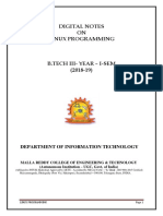 LINUX PROGRAMMING (R15A0527)