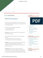 BGP Path Attributes – netcerts