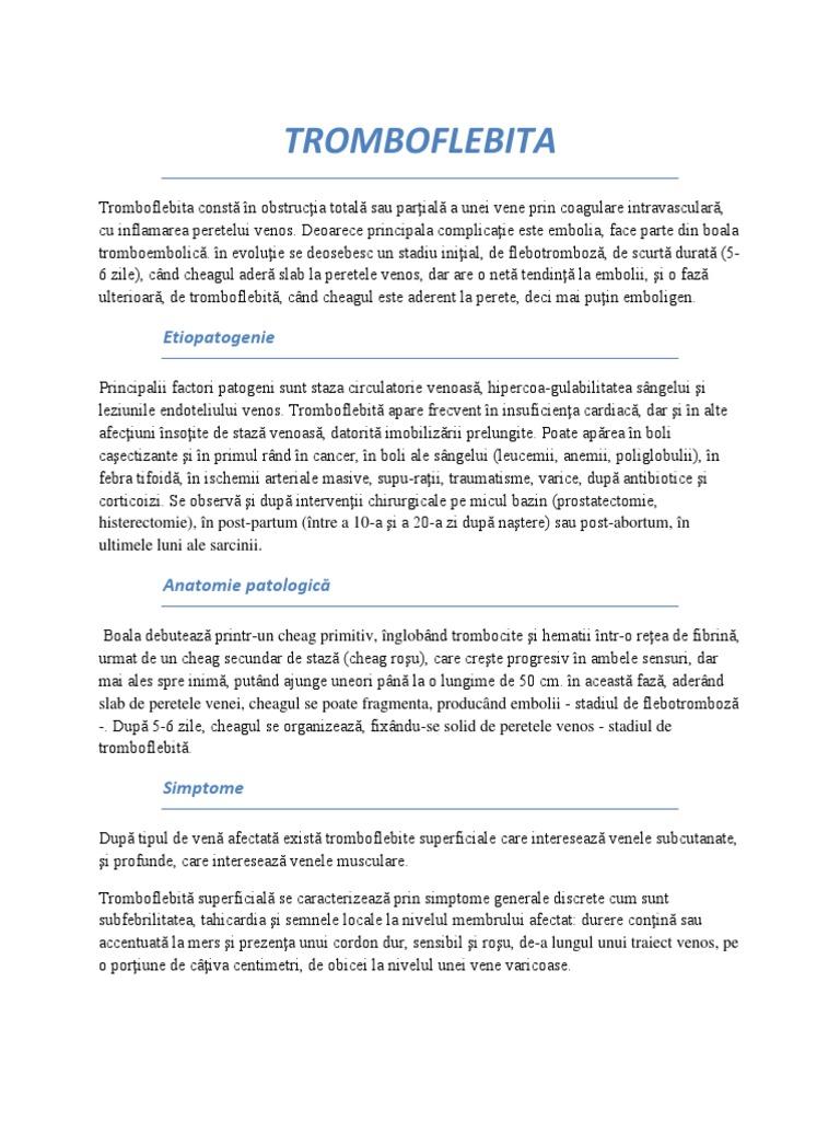 dieta cu tromboflebită și varicoză