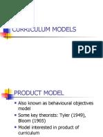 Curriculum Models Long
