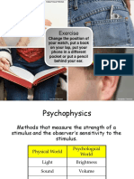 sensation and perception thresholds