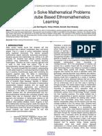 1. AERTKEL IJSTR UMAM WAHYU OKTOBER 2019 The-Ability-To-Solve-Mathematical-Problems-Through-Youtube-Based-Ethnomathematics-Learning