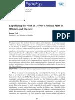 "Legitimizing the ""War on Terror"""
