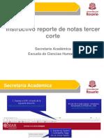 Instructivo Reporte III Corte de Notas Ech 2019-II