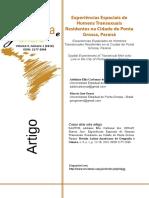 Experiências Espaciais de Homens Transexuais Residentes na Cidade de Ponta Grossa, Paraná