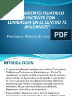 presentacindetratamientodelumbalgia-131124160324-phpapp02