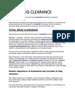 Drug Clearance
