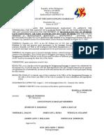 Resolution for Seminar Palawan