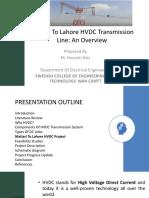 Matiari to Lahore HVDC transmission line project Pakistan