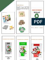 Folleto Manejo de Residuos Reciclajes