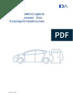 70 Målsætningens Konsekvenser for Transportsektoren (Opdateret Med Energistatistik 2018)