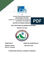 C&S recruitment process Summer-Training-Report.doc