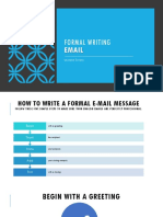 Formal Writing - Email