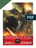 [2014] Baptism of Fire (The Witcher Book 3) by Andrzej Sapkowski      Orbit