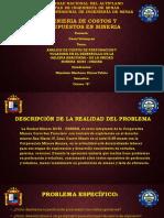 ANALISIS DE COSTOS DE PERFORACION Y VOLADURA EN EL DESARROLLO DE LA GALERIA ANACONDA – DE LA UNIDAD MINERA  KORI - CHASKA.pptx